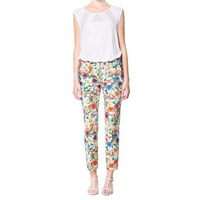 2013 New Fashion Ladies' elegant  stylish Floral print Trousers vintage casual slim Pencil pants quality brand design Pants