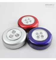 Wholesale lots 4 Pcs Wireless LED  Stick Touch Lamp Push Lights   Small  Kitchen Cabinet Drawer Light  Lamp