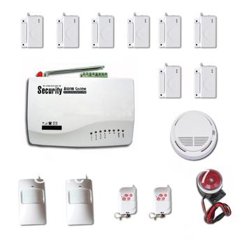 New Wireless GSM Home Security Burglar SIM Card Alarm kit System Auto Dialing Dialer  Call +8Door 2Key 2IR 1Smoke detecor