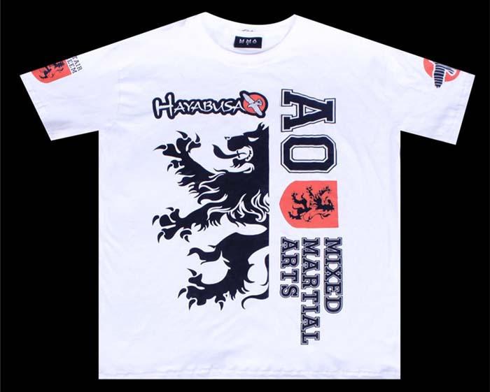 MMA monster short sleeve t shirt fighting shirt yellow white black available free shipping(China (Mainland))