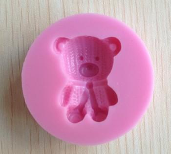 1PCS Lovely bear shape Chocolate Candy Jello 3D silicone Mold Cartoon Figre/cake tools Soap Mold Sugar craft Cake Decoration