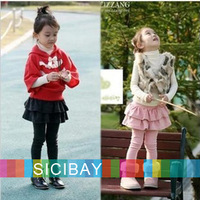 2014 New Autumn Leggings Girls Fall Cake Pantskirt, Kids Fashion Wear,Free Shipping   K1557