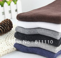 Trend Knitting  5 pcs a lot Brand High Quality Cotton Winter  thicken Pure color Men's Warm socks