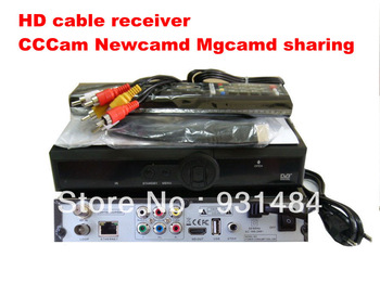 5 pcs/lot DVB cable receiver hd  Q5 pvr cable box CCCam Newcamd network sharing for uk