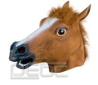 FREE SHIPPING Novelty Creepy Horse Halloween Head latex Rubber Costume Theater Prop Party Mask Offering Discounts silicone mask