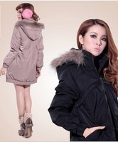 Maternity Clothing Coat Outerwear  Women's medium-long maternity