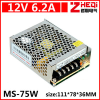 Mini 75W switching power supply, 12V6A LED power supply, monitor power supply, AC110-220 to DC