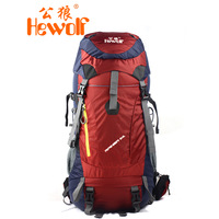 Hewolf 65l mountaineering bag outdoor camping backpack general travel backpack 1665