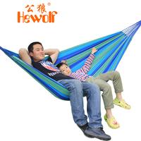 Hewolf outdoor hammock thickening canvas double hammock indoor swing lashing 1544