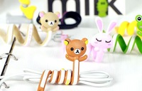 Free Shipping! Cartoon Animal Cable Winder Long Design Power Cord Straps Management-ray Device Hub