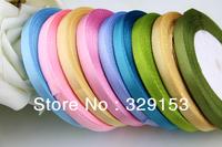 Cheap satin ribbons belt   Gift Packing Silk Ribbon Polyester Ribbon 0.6cm*25Yards many colors 20Rolls/LOT