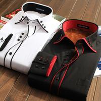 winter good quality thermal men shirts 2013 male cotton long sleeve shirt loose plus size businese formal shirts dress