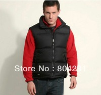 Free shipping 2014 brand Down Vest Man Women unisex outdoor warm winter vests 90% down high quality made 2 color available