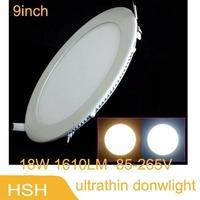 new 2014  led panel Light 18w 3528 SMD 16100 Lumens 85V-265V Warm White / White LED Pannel Lamp