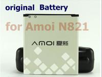 2 pcs/lot Original 2050mAh Battery for Amoi N821 Cell Phone, China Post Airmail free shipping