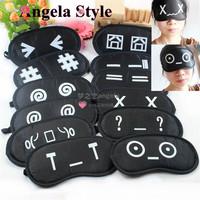 5 Pcs!FREE SHIPPING!! Fashion Lovely Black Cartoon Eyeshade Network Punctuation Sleeping Eye Mask