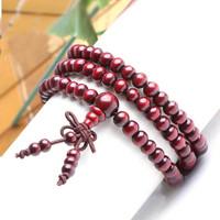 1 Pcs Free Shipping! Christmas Gift  Beads Rosary Beads About 108 Japa malas Beads Bracelet Sandalwood Prayer Bracelet