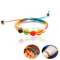 5 Pcs!Handmade Colorful Rope Bracelet Bead  Apotropaic  String 5 Beads Lucky Rope Bracelet
