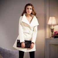 Woolen overcoat women medium-long woolen outerwear 2013autumn and winter female new arrival plus size slim womens brand coats