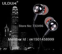 ULDUM promotional high quality metal in-ear earphone with fake diamonds with mic headphone