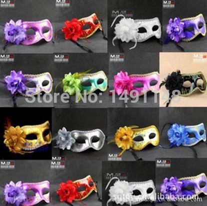 Venda laopan-Hot Sexy Hallowmas máscara veneziana máscaras máscaras com flor máscara máscara do partido de dança(China (Mainland))