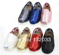 1 pairs 6 colors Sequins mix spring flash sequins soft bottom cloth shoes casual shoes Men shoes and women shoes