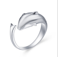 Valentine's Day 2014 Lovers Rings Lovely Dolphin Platinum plated Girl Ring Lovely Present J037