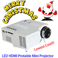Affordable LED Mini Portable HDMI Projector VGA USB AV SD proyector projetor for normal presentation view