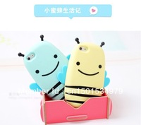 Bee Silicone Case stereo phone shell case for iPhone4 and  iPhone4s and iphone5