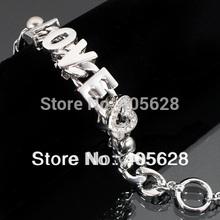 Crystal LOVE fashion chain Bracelet