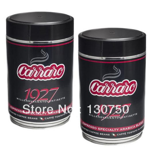 Carraro Italy imports 1927 Italian concentrated espresso coffee beans 500g