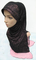 2014 New Style Long Pattern Moon Design Concise,Elegance Muslim Hijab,Double Layers Islamic Fahsion Scarfs,Free Shipping