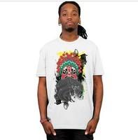 Men's Short Sleeve Tee T Shirt Peking Opera/ Novelty Chinese Art T Shirt Man Rock n Roll