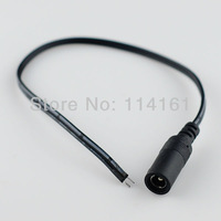 DC Power 2.1*5.5mm female cable Pigtail plug Adapter Tail extension for CCTV-5pcs