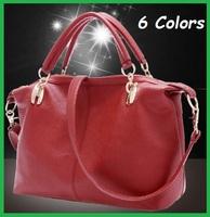 2013 Newest Fashion High Quality Leather Bag Cowhide Women's Bag, Handbag, Lady Totes, 6 Colors, Shoulder Bag, Free Shipping