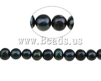 Free shipping!!!Round Cultured Freshwater Pearl Beads,clearance sale with free shipping, natural, black, A, 9-10mm