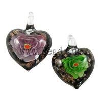 12pcs/lot High Quality Flower Lampwork Pendants Fashion Jewelry Making DIY Necklaces Pendants Birthday Gifts