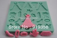 2015 Free Shipping Fondant Cake Decorating Tools 3D Silicone Mold Fondant Kitchen Bakeware Cooking Tools Sugar Craft Tools