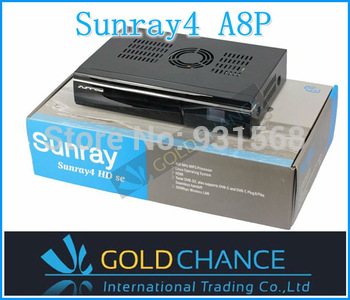Sunray sr4 triple tuner a8p 400 MHz MIPS Processor Enigma 2 Linux System 300Mbps WIFI OLED Display free shipping dhl