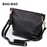 HOT Women Genuine leather (TOP layer) real cowhide handbag Retro Tassel chains shoulder/crossbody Messenger bags Fashion B140