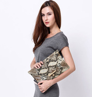 2013 new Fashion design popular vintage Snake Skin women clutches evening bag envelopes free shipping HD244