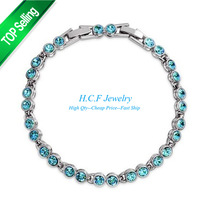 2015 New Arrival 18K Gold Plated Free shipping Fashion Jewelry  Gift  Hot sale With Shining Crystal Bracelet Bright Stars