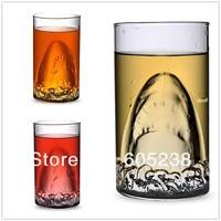 Shark Drinking Glass /  Shark Attack Mug /  Free shipping  (350ml)