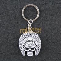 12pcs Travel Souvenir South Africa Jewelry Bone Keychain Creative Lucky Yak Keyring Skeleton K0209