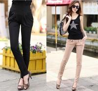 S-XXXL High Quality pants New 2014 Fashion Solid color Slim Casual Harem Pants Plus Size Women Pants