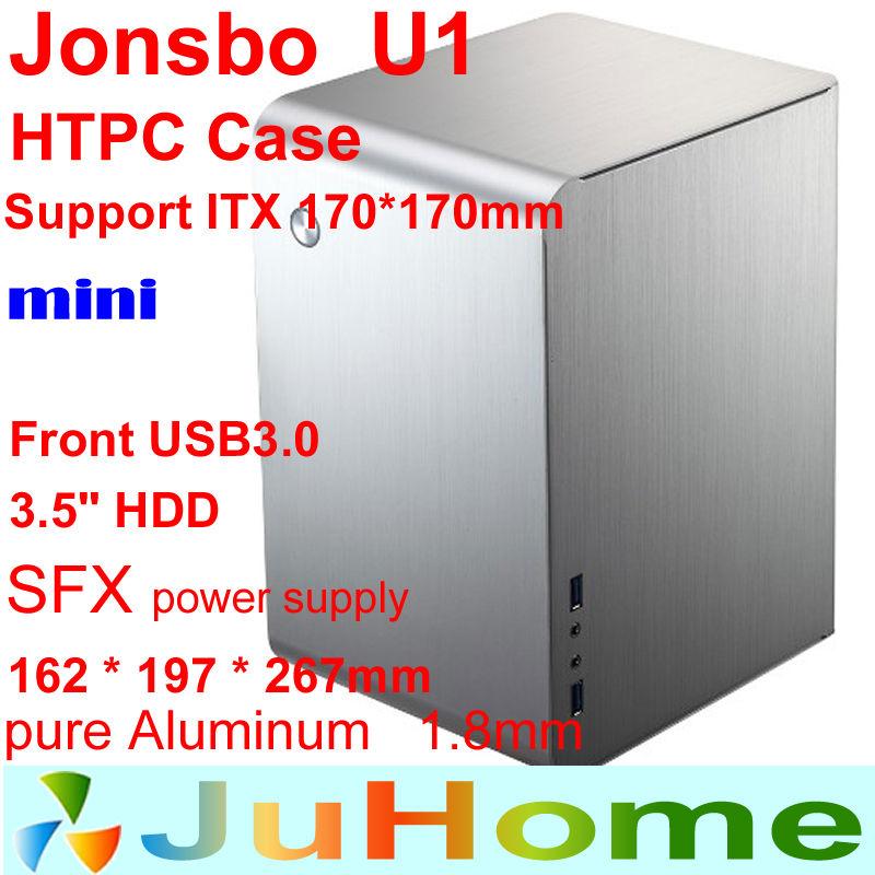 Jonsbo U1 HTPC ITX Mini case, small case of the computer aluminum small case htpc Home theater multimedia computer, V4 V2 V3+ U2(China (Mainland))