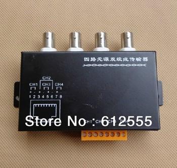 NEW!!! 4pcs CCTV 4 Channel Passive Video Balun Transmitter 4CH UTP Video Balun BNC to UTP RJ45 Camera DVR