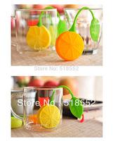 100pcs Lemon Tea Infuser Bags Tea Strainers Silicone Tea Filter spoon freeship H166