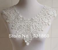1 pc Off White Neckline Venise Lace Sewing Costume Applique Craft 43.3cm X 31cm