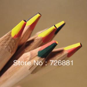 Marco 6403 Children Original Wooden Colored Pencils 6pcs For DIY rainbow doodle pencil painting(China (Mainland))